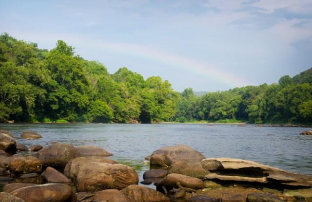 Rainbow over New River's Edge Inc.