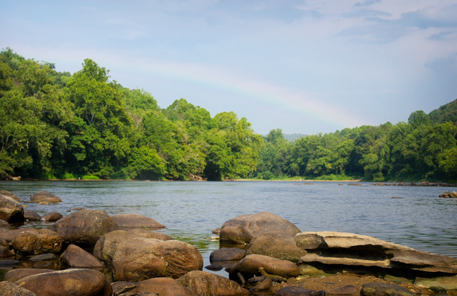 Rainbow over New River's Edge Inc.