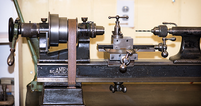 Antique B.C. Ames lathe from the early 1900s