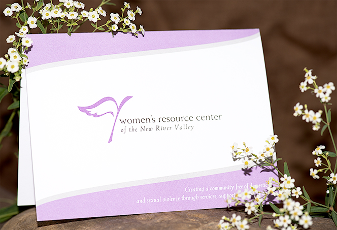 A card from the Women's Resource Center of the NRV for donations generated through the Angeliki horse necklace