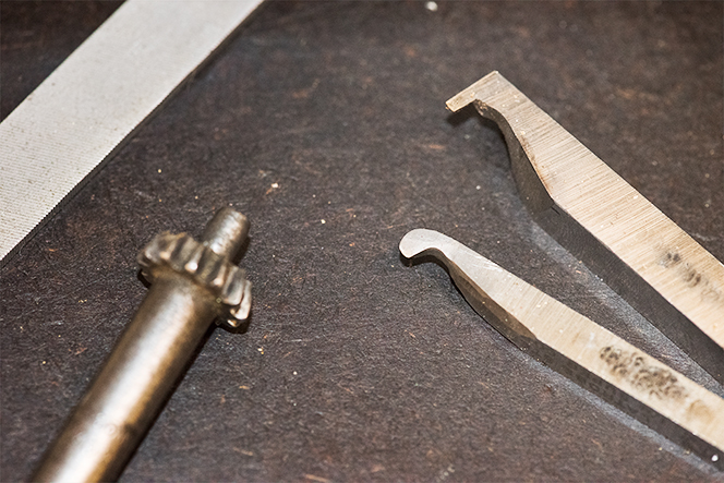 Cutting tools for the lathe made by Jeni Benos