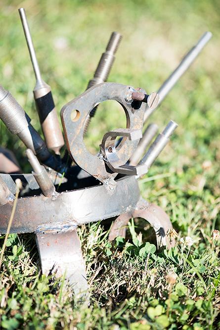 scrap metal welded into a creature