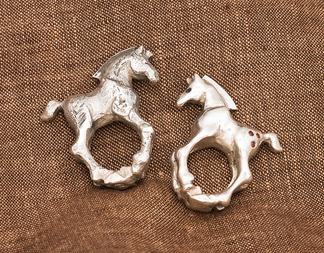 horse rings- some of my first castings