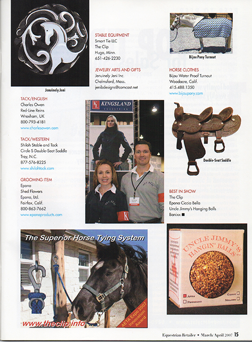 AETA innovation awards in equestrian retailer magazine