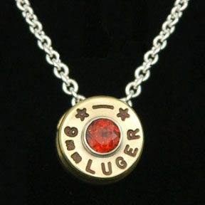 9mm Primer Necklace with gem stone
