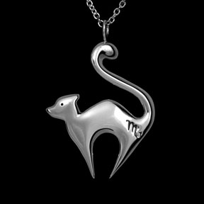 Scorpio Cat Zodiac Necklace ©