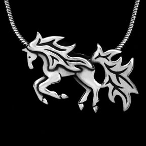 Cantering Horse Necklace