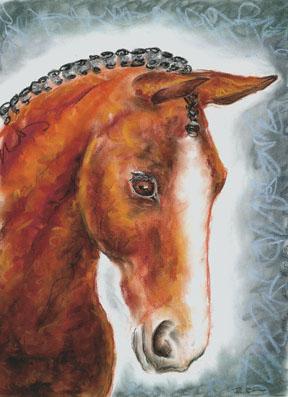 Pastel Horse Drawing