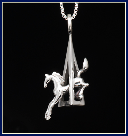 corner jump eventing horse necklace