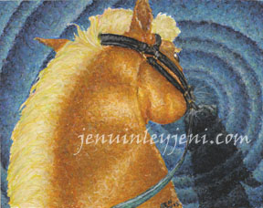 Pastel Horse Drawing by Jenuinley Jeni