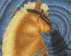 Horse Drawing by Jeni Benos