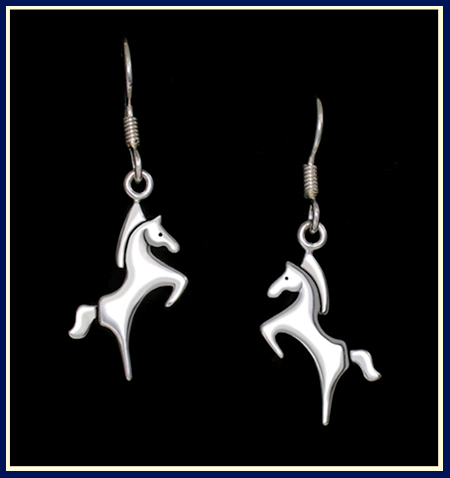 Leo Rearing Horse Earrings ©