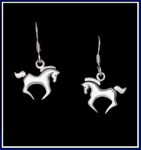 Libra ©, Cantering Horse Earrings