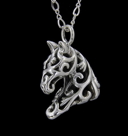 Ivy Filigree Horse Necklace
