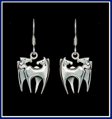 pisces-double-horse-earrings