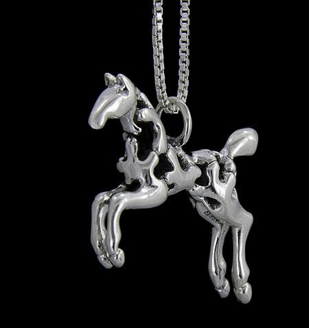 Sadie ©, Paint Horse Necklace 2
