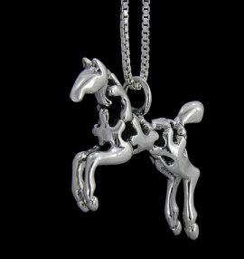 filigree paint horse jewelry